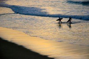 Surfers in San Sebastian
