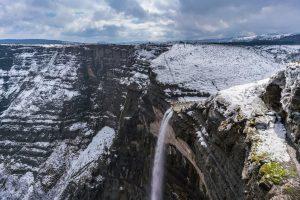 Salto del Nervión en invierno
